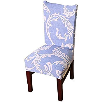 Lixinsunbu Dining Room Stretch Stripe Printed Chair Cover Protector Seat Slipcover Color 8