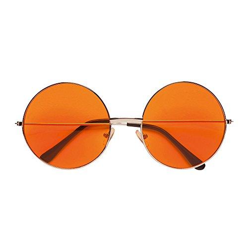 PARTY DISCOUNT Brille 70er Jahre mit orangefarbenen ()