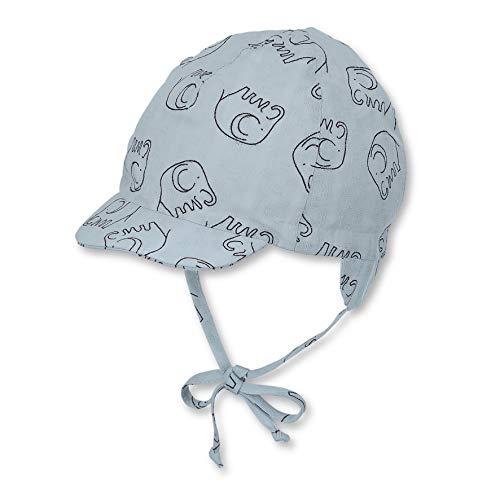 Sterntaler Schirmmütze für Jungen mit Bindebändern und Ohrenklappen, Alter: 6-9 Monate, Größe: 45, Hellblau (Himmel)