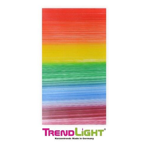 Verzierwachsplatten - Wachsplatten Regenbogen 2 Stück 20x10 cm