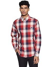 Aeropostale Men's Solid Regular Fit Casual Shirt
