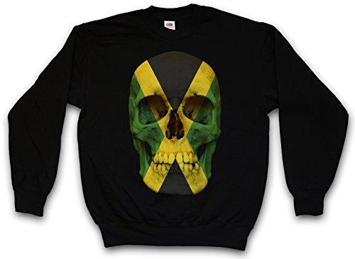 Shirt Flag Jamaican (JAMAICA JAMAICAN SKULL FLAG SWEATSHIRT PULLOVER - Totenkopf Jamaika Fahne Rasta Irie T-Shirt Größen S - 3XL (M))