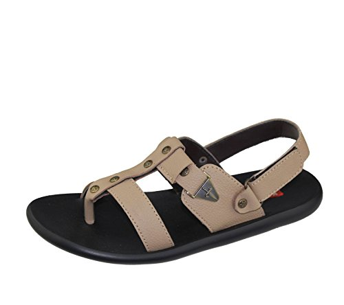Herren Sandalen Casual Beach Fashion Walking Klettverschluss flach Komfort Schuhe Slipper Größe Beige