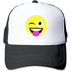 Negro emotee Emoji Monke Kawaii Cute Face gorra de béisbol sombrero - negro -