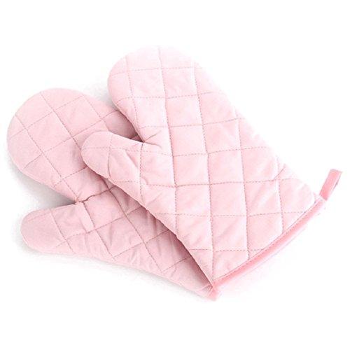 Guantes Horno - TOOGOO(R)2 pcs algodon proteccion guantes de cocina re