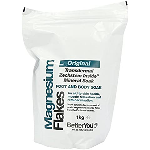 BetterYou - Magnesium Flakes - Foot and Body Soak - 1Kg (Case of 6)