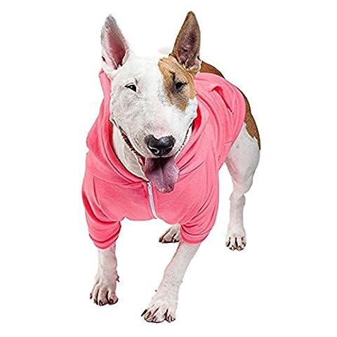 Flex Fleece Hund Zip Hoodie (F997) American Apparel Weiß Nylon