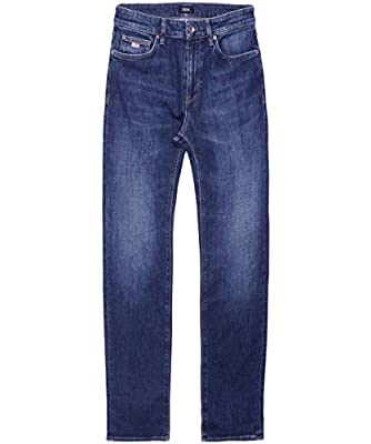 BOSS Hugo Boss Men's Regular Fit Maine3 Jeans Medium Blue