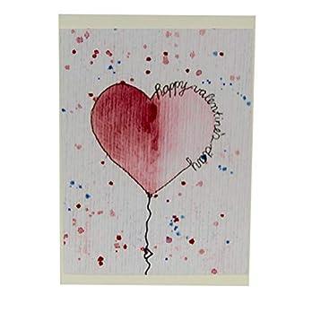 Grußkarte – Klappkarte – Valentinstag – Herz – Liebe – handgemalt