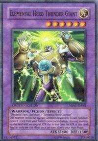 Yu-Gi-Oh! - Elemental Hero Thunder Giant (MF01-EN001) - Mattel Action Figure Series 1 - Promo Edition - Parallel Rare by Yu-Gi-Oh!