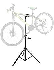 Lixada Vélo Support de Réparation Stand Réglable Réparation Pro avec Bras Télescopique Cycle Vélo Rack
