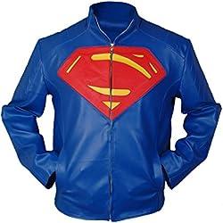 F&H Men's Superman Jacket 5XL Blue