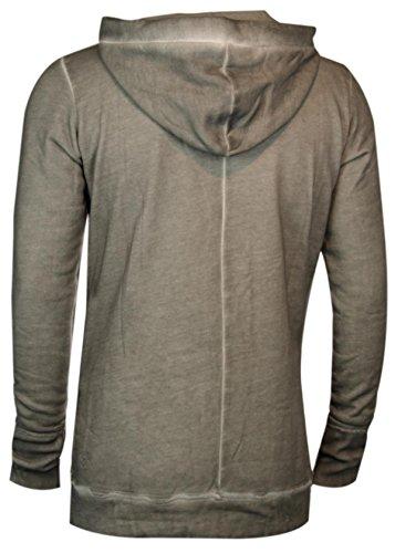 trueprodigy Casual Herren Marken Sweatshirt einfarbig basic, Oberteil cool und stylisch mit Kapuze (Langarm & Slim Fit), Hoddie für Männer in Farbe: Dunkelgrau 2562105-5203 Dark Grey