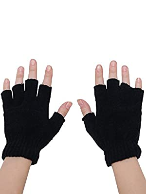 Shopolica Finger Cut Gloves For Winter/Men / Women/Girls / Unisex/Warm Fabric