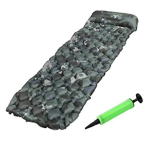 Aufblasbare Isomatte, Camouflage Ultra Light, wasserdichte Aufblasbare Isomatte, Outdoor Wandern Mit Kissen, 190 X 56 X 5,5 cm