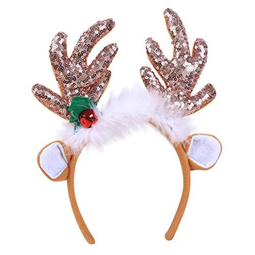 TianranRT Heiße Weihnachten Kopfband Stirnband Santa Xmas Party Dekor Doppel Haarband Schließe Kopf Hoop ()