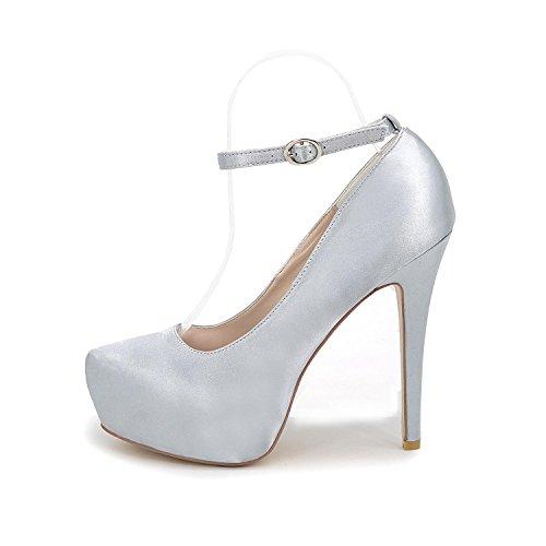 L@YC Femmes Sandales/Talons/Eté/automne Satin Mariage/Party & Evening white