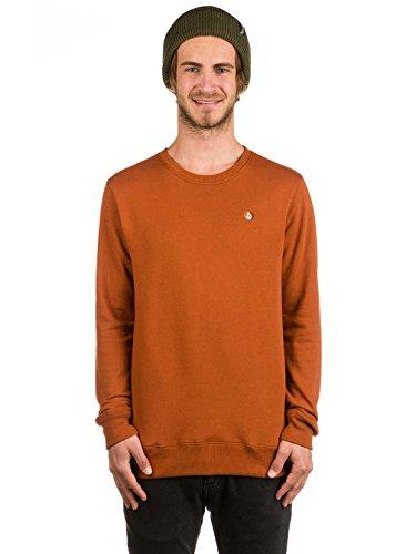 Volcom Herren Sngl Stone Crew Sweatshirt Copper