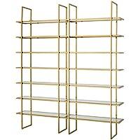 Comparador de precios Casa-Padrino Armario de estantería de Lujo Oro 220 x 40 x H. 253 cm - Calidad de Lujo - precios baratos