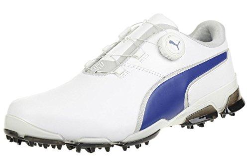 Puma Titantour Ignite DISC Men Golfschuhe Golf white leather 189427 05, pointure:eur 45