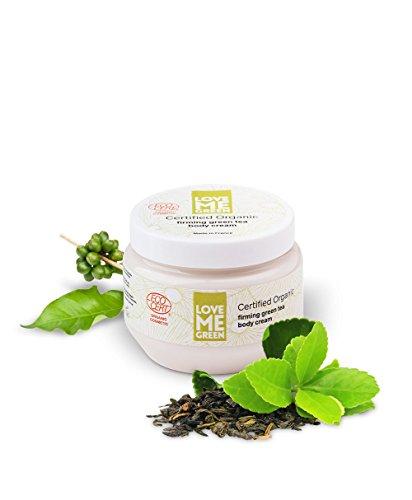 Organic firming green tea body cream, ohne Silikone oder Parabene, ECOCERT greenlife zertifiziert, made in France