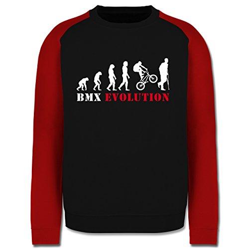 Evolution - BMX Evolution - Herren Baseball Pullover Schwarz/Rot
