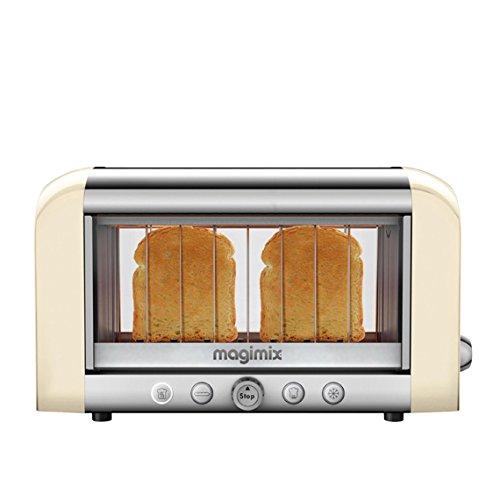 Magimix 11539 Toaster Aluminium, Glas, Edelstahl Crème, Argent