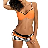 Bikinis y Braguitas para Mujer riou Sujetador Push-up Bikini Set Traje de baño Traje de baño Ropa de Playa Acolchado Bañador Sexy Biquini Bohemia 2019 Nuevo vikinis Natacion
