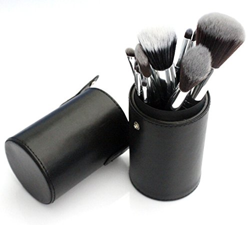 2 Kosmetik Pinsel Set Up Make-Up Tool, Schwarz (Make-up-bürsten Rosshaar)