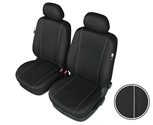 Preisvergleich Produktbild HERMAN - L - Schwarze Sitzbezüge Schonbezüge Vorne / BD-HERMAN-L-113