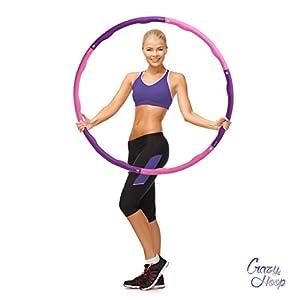 Ocean 5 Crazy Hoop Hula Hoop Reifen, Gymnastikreifen mit Schaumstoff oder Magneten, Bauchtrainer zum abnehmen