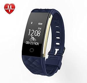 Fitness Armband mit Pulsmesser EFOSHM Wasserdicht IP67 Fitness Tracker Watch Aktivitätstracker Schrittzähler Uhr mit Schlafmonitor Kalorienzähler,Vibrationsalarm Anruf SMS Whatsapp für Android iOS