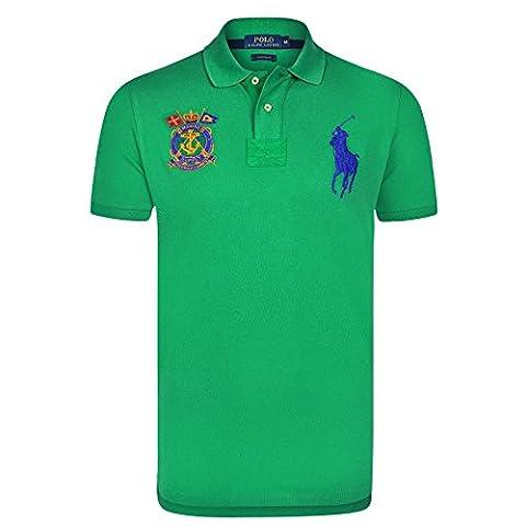 Ralph Lauren - Polo - Col Chemise Italien - manches courtes - Homme vert Green Stem Medium