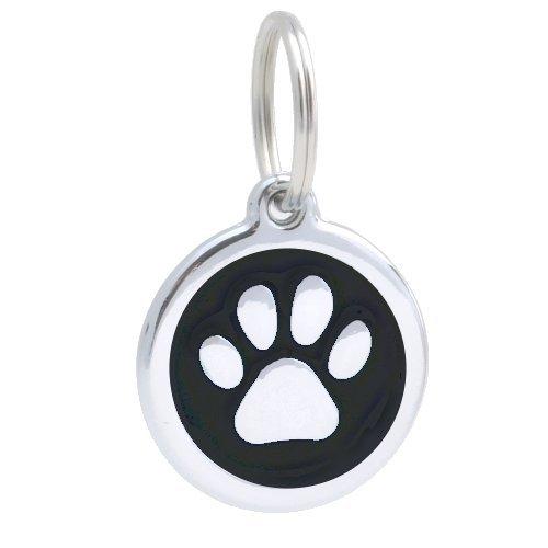 pettouchid-smart-pet-id-tag-qr-code-website-gps-location-paw-black