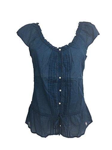 Abercrombie & Fitch Damen Bluse Blau blau S
