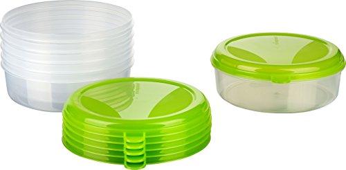 MiraHome Frischhaltedose Gefrierbehälter 1,5l rund 6er Set grün Austrian Quality