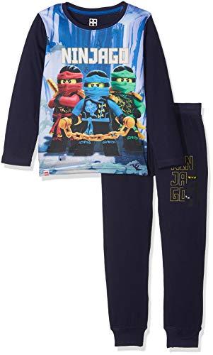 Lego Wear Jungen Zweiteiliger Schlafanzug Lego Boy Ninjago CM-73117 Pyjama, Mehrfarbig (Dark Navy 590), 128