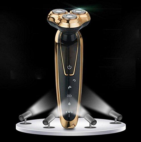 Preisvergleich Produktbild GX Gold-Plated Körper Elektrorasierer 4D Wiederaufladbare Rasiermesser Waschen Rasierer , 2,2