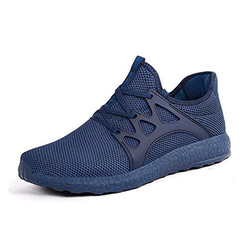 ZOCAVIA Herren Damen Sneaker Running Laufschuhe Sportschuhe rutschfeste Sneaker Blau 41 EU