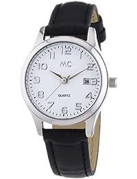 MC Timetrend Damen-Armbanduhr mit schwarzem Lederband, Analog Quarz 51267