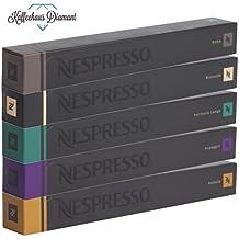 Nespresso Kapseln Original Caffe Sortiment, 50Kapseln–10x Roma 10x Ristretto 10x Fortissio 10x Arpeggio 10x Volluto–Produkte Original