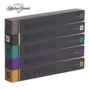 nespresso kapseln original caffe sortiment 50 kapseln 10 x roma 10 x ristretto 10 x fortissio. Black Bedroom Furniture Sets. Home Design Ideas