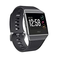 Fitbit Ionic Health & Fitness Smartwatch (GPS) with Heart Rate, Swim Tracking & Music, Charcoal/Smoke Grey