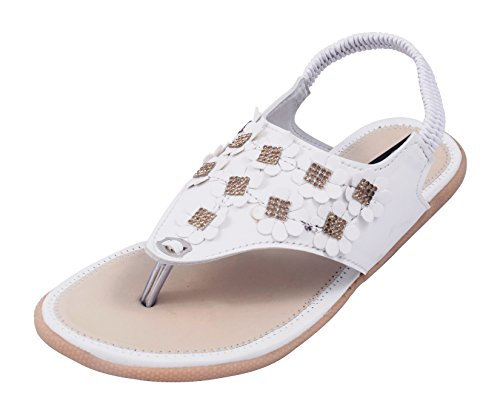 Rimezs Women's White Synthetic Fashion Sandals - 7 UK