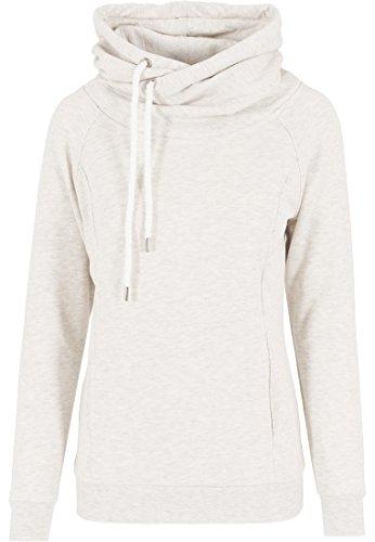 Urban Classics Damen Pullover Pullover Raglan High Neck Hoody mehrfarbig (Offwhite Melange) X-Small