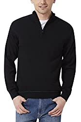 Peter England Regular Fit Sweater _ PSW51506729_S_ Black
