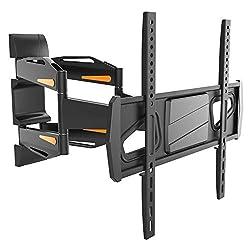 RICOO TV Wandhalterung S1844 Universal für 32-65 Zoll (ca. 81-165cm) Schwenkbar Neigbar Fernseh Halterung Wand Halter Aufhängung auch für Curved LCD und LED Fernseher | VESA 200x200 400x400 | Schwarz