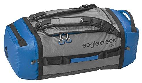 Eagle Creek Wasserabweisender Backpacker Cargo Hauler Duffel ultraleichte Reisetasche mit Rucksacktagegurte, 60 L, Blau/Grau (Cargo Rucksack-zubehör)