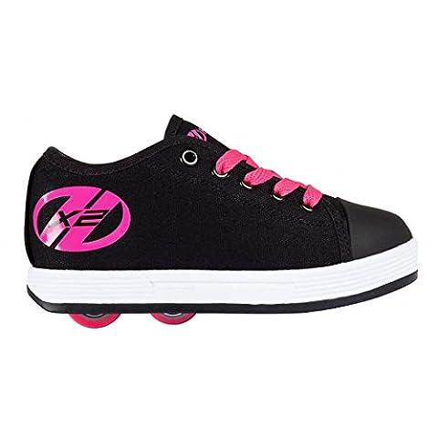 Heelys Fresh HX2 Wheels Canvas Skating Shoes (4 UK, Black/Pink)