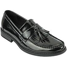 Xpose - Zapatos de Piel para Hombre, diseño Retro, Color Negro